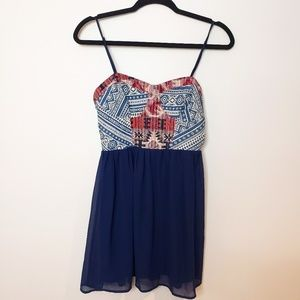 Forever 21 Aztec Dress with Adjustable Straps